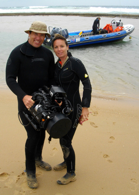 Adventures with Miss Scuba diving in South Africa
