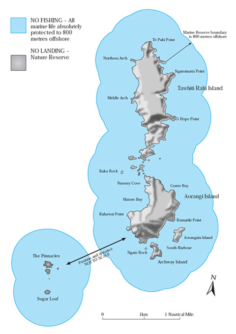 Map of the Poor Knights Islands